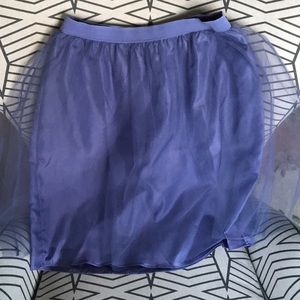 Adorable purple tulle skirt